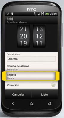 Tutorial activar alarma htc desire x for Sonido de alarma
