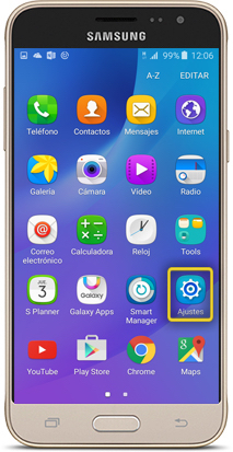 how to turn on roaming on samsung j3