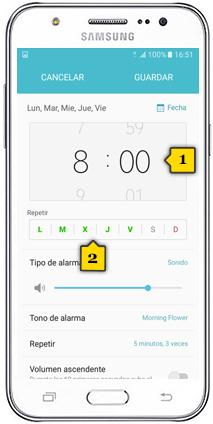 Alarma Calendario Samsung.Tutorial Activar Alarma Samsung Galaxy J7