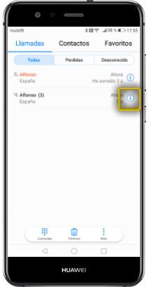 tutorial ver por tipo borrado de registro huawei p10 lite